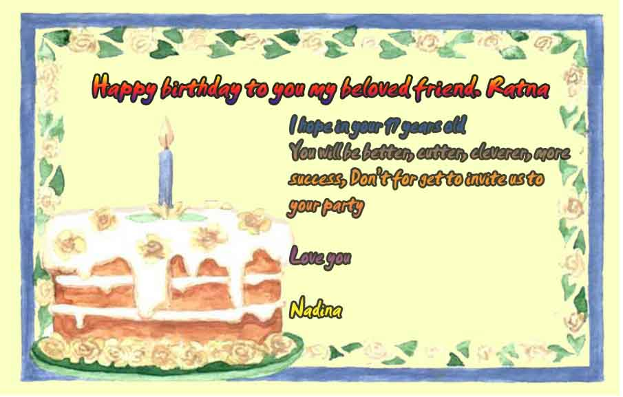 contoh greeting card ulang tahun