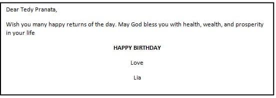 contoh greeting card