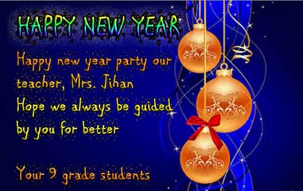 greeting card happy new year bahasa inggris