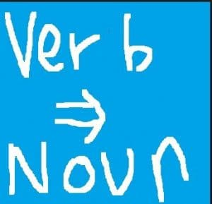 verb to noun