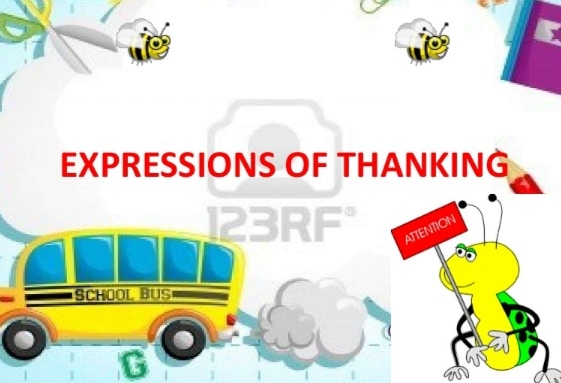 Expression of thanking