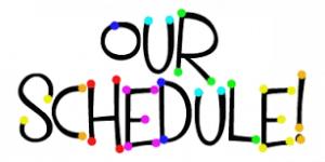contoh schedule dalam bahasa inggris