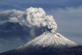 Report text about Mountain Eruption