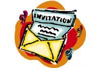 accepting of invitation