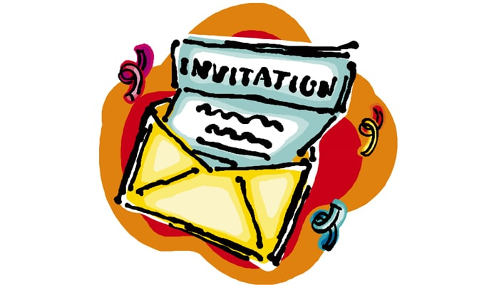 accepting of invitation
