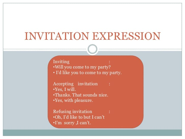 expressing invitation