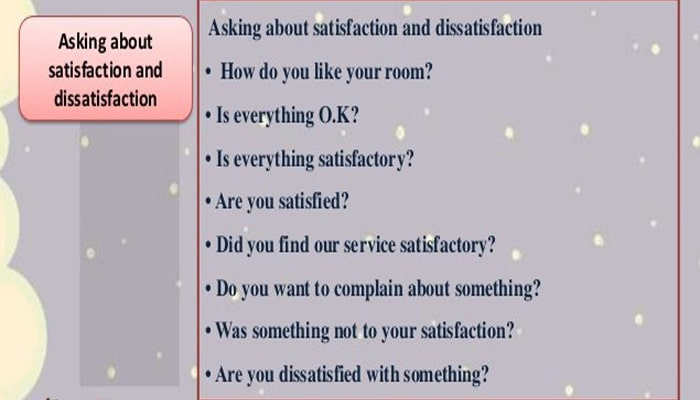 Asking About Dissatisfaction